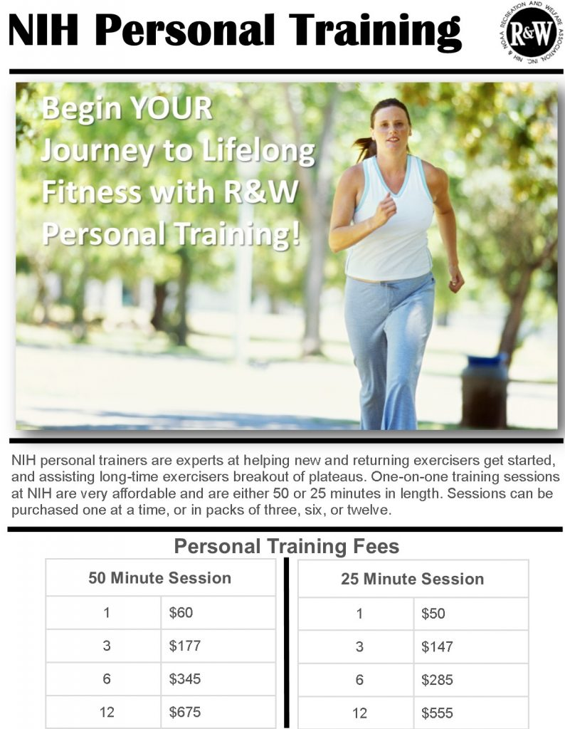 NIH Personal Training Cost