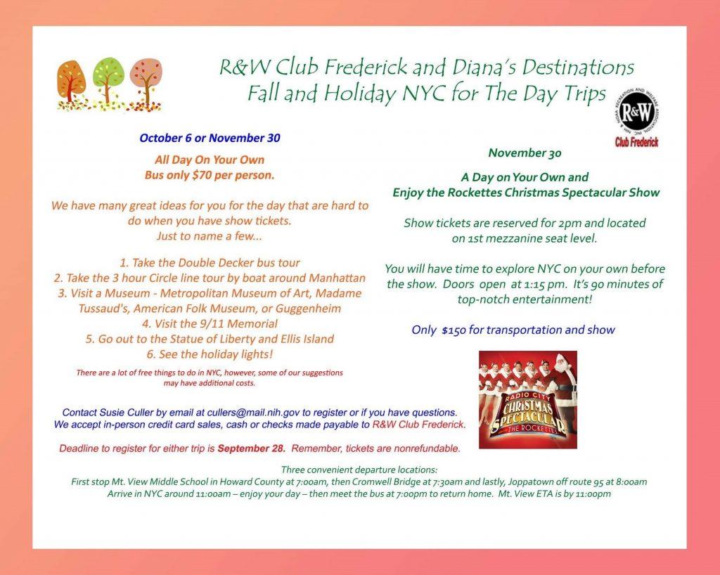 Club Frederick Fall Trip