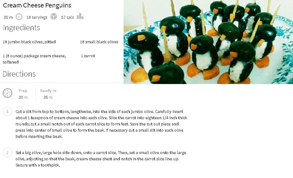 Cream Cheese Penguin