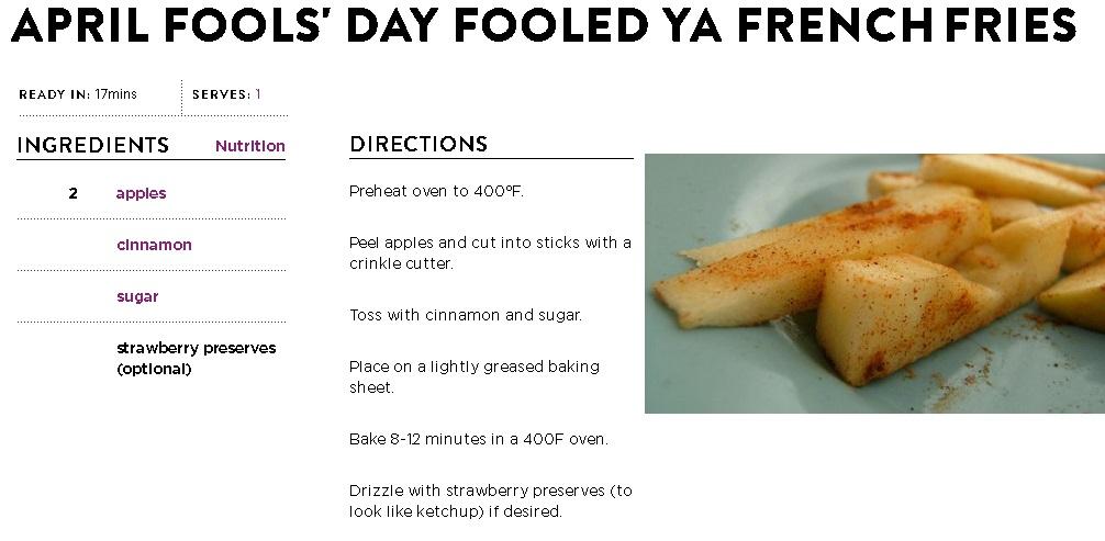 April Fool's Fries