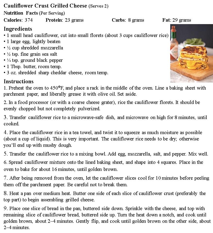 Grilled Cheese Cauliflower