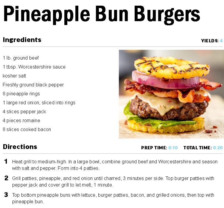 Pineapple Bun Burger