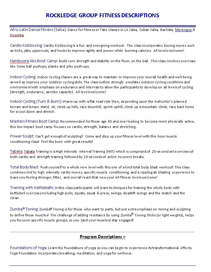 Rockledge Class Description