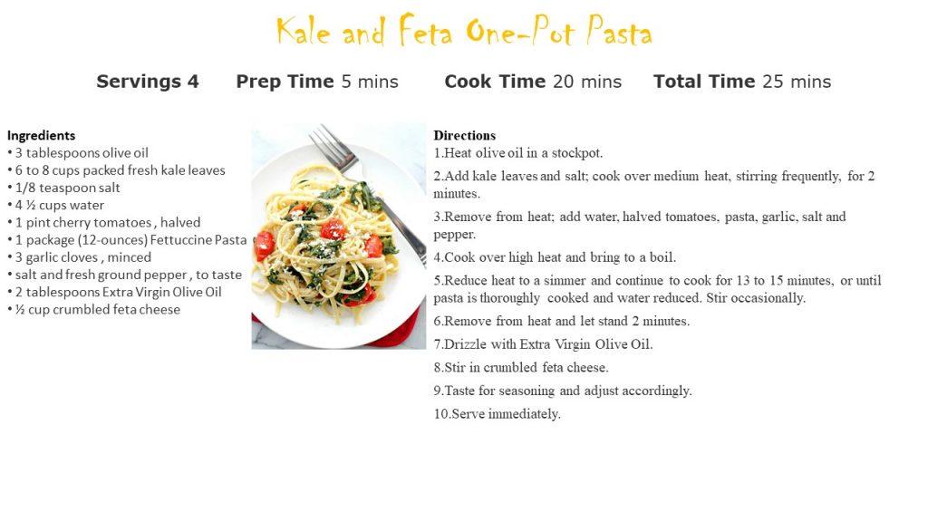 Kale & Feta One Pot Pasta