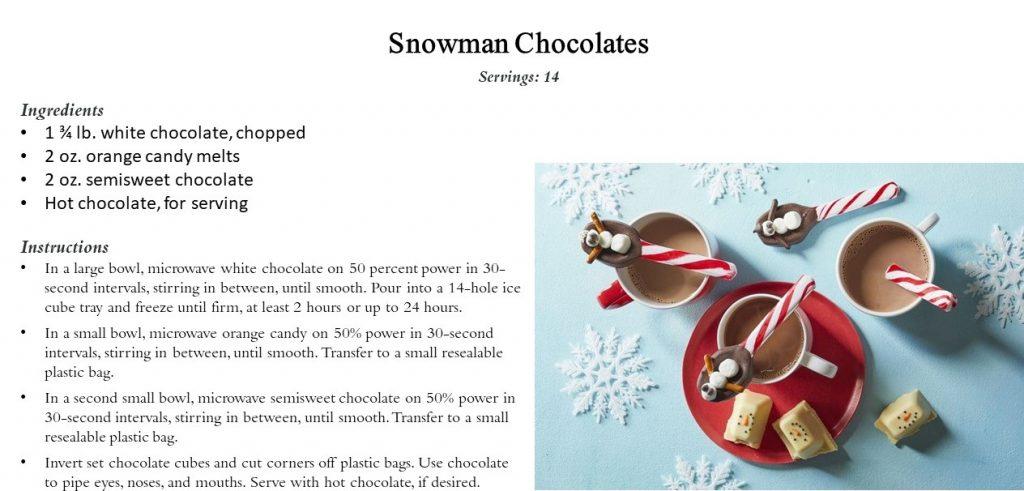 Snowman Chocolate Drinks