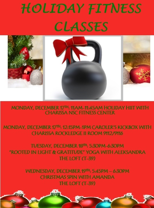 2018 Holiday Fitness Classes
