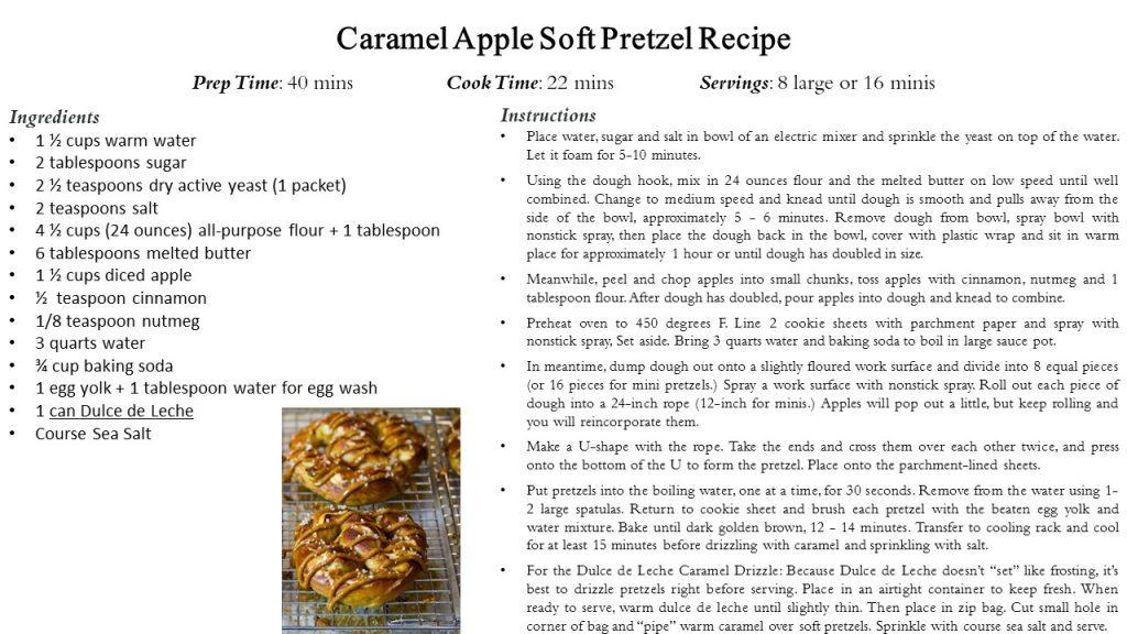 Caramel Apple Soft Pretzels