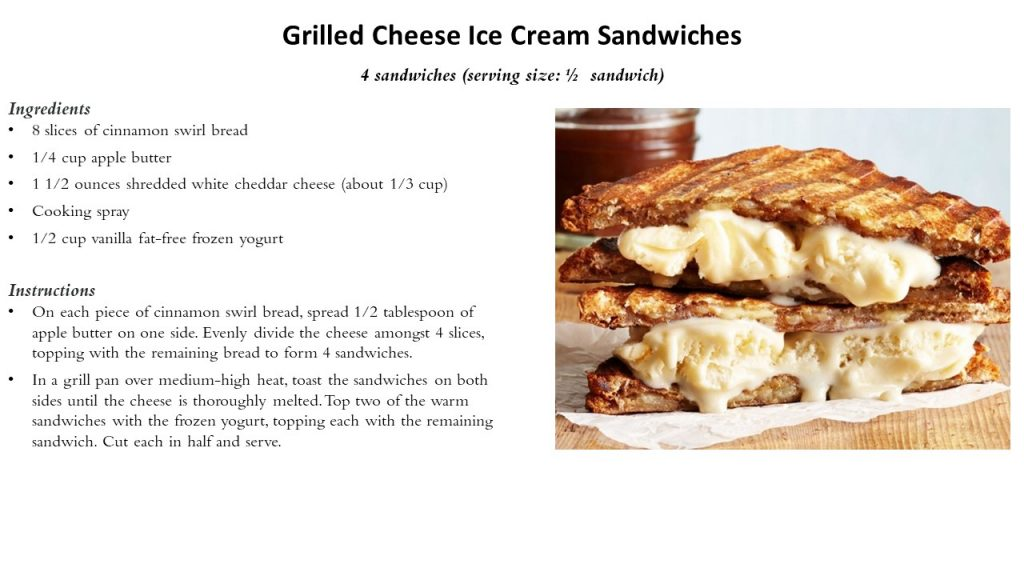 Grilled Cheese Ice Cream Sand