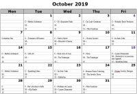 October 2019 Vendors