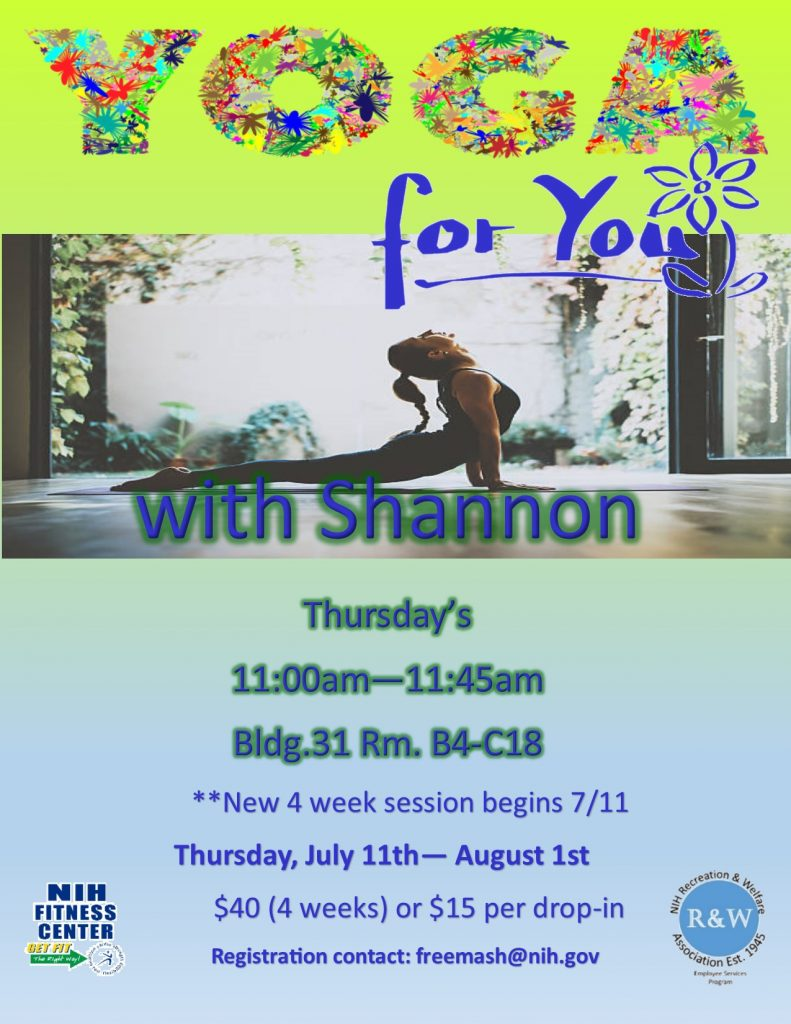 July 2019 Yoga for YOU
