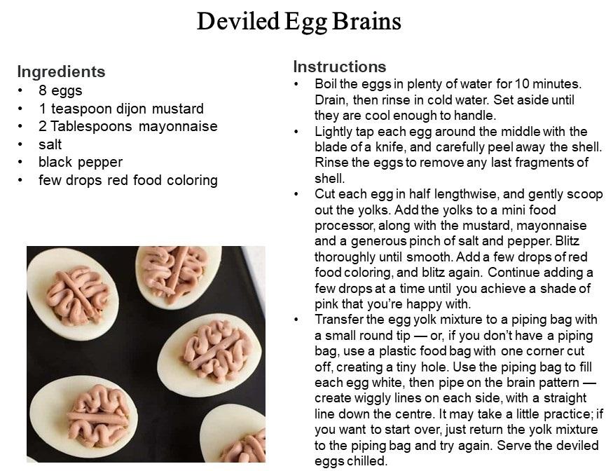 Deviled Egg Brains
