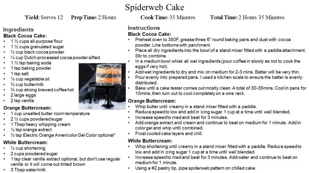 Cake Spiderweb