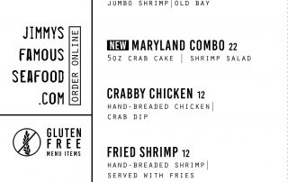 Jimmy's Famous Seafood Menu