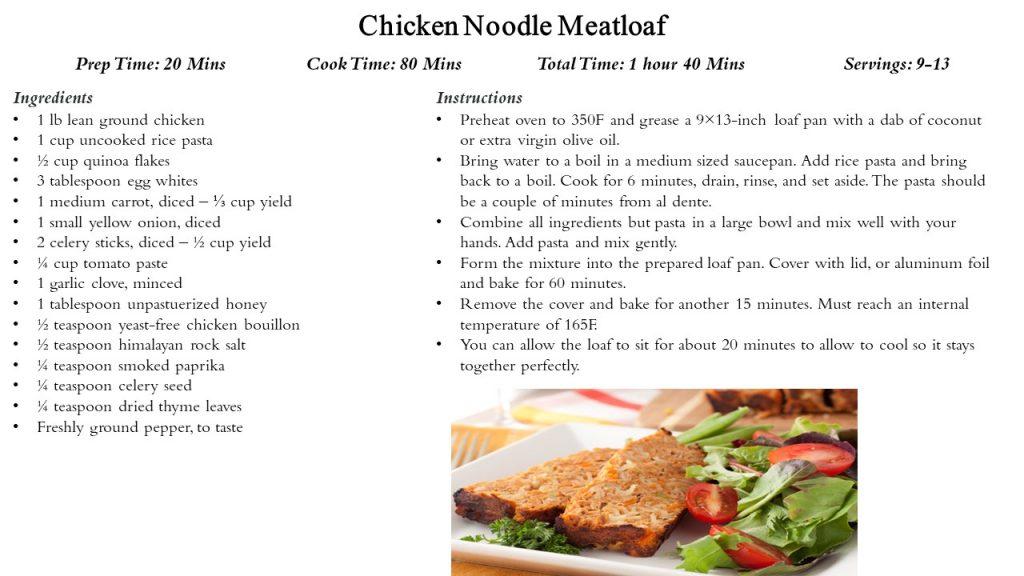 Recipe: Chicken Noodle Meatloaf