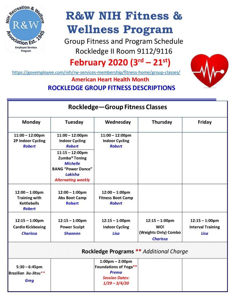RKL Group Fitness Feb 2020