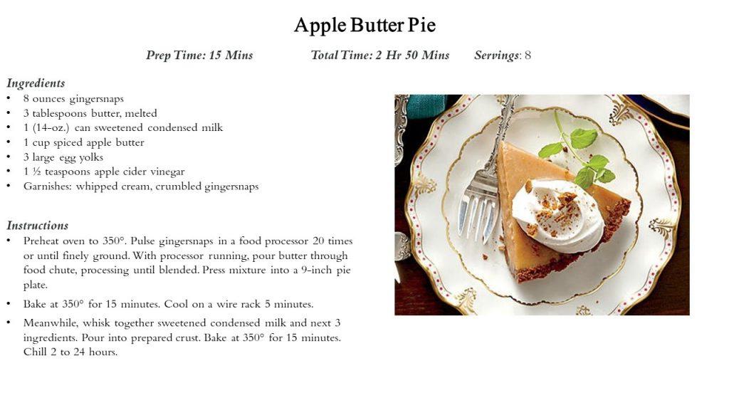 Pie - Apple Butter