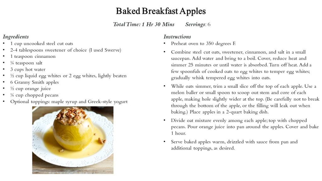 Baked Breakfast Apple