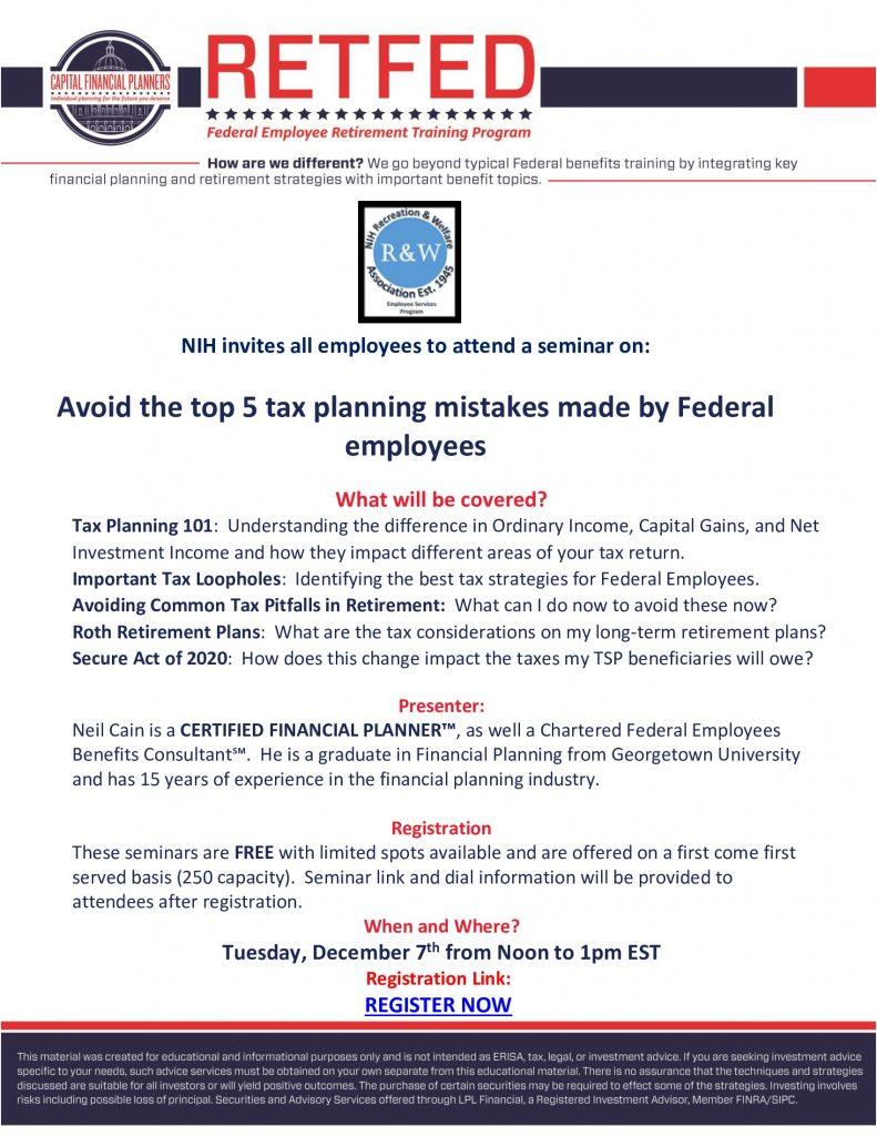RetFed Tax Planning