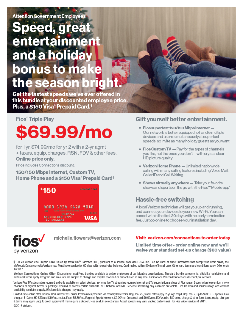 Fios Triple Play $69.99/month